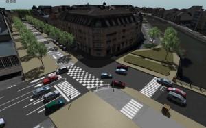 Simulation de flux de traffic urbain © Voxélia